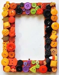 Easy Fall Craft: Create a Button Frame — craftbits.com
