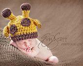Baby Giraffe Hat Perfect Newborn Photo Prop Halloween Costume
