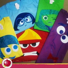 This is a gorgeous and vibrant t-shirt with your favourite emotion from Inside Out film.. Ask for the size you need!! 100% cotton t-shirt Heat