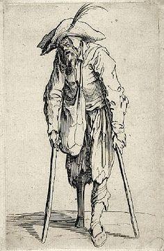 Jacques Callot - Beggar, 1622