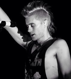 Jared Leto blonde mohawk