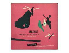 Joseph Low record album design 1952. Mozart by NewDocuments, $25.00