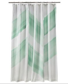 Nate Berkus Color Block Mint Green Shower Curtain New | eBay