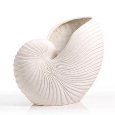 Sand Stone Nautilus Shell Vase