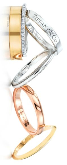 Tiffany & Co.| Keep the Glamour | BeStayBeautiful I would love one of these for my wedding band! #jewellery Tiffany #Tiffany