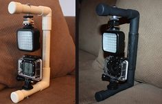 GoPro Hero 3 with Sima SL-20LX Universal LED Camera Light