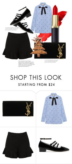 """""""Christmas Time! #relax #xmas #anikle #style"""" by andzelika-niklewicz on Polyvore featuring Yves Saint Laurent, Gucci, Sans Souci and AlexaChung"""