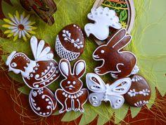 Velikonoční perníčky v bílém.