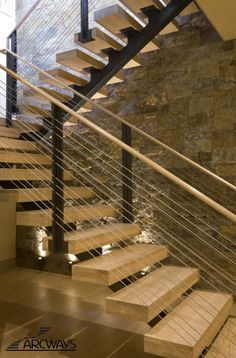 Attractive Straight Stairs Design for Home Metal Stairs, Wooden Stairs, Modern Staircase, Staircase Design, Stair Design, Architectural Digest, Stair Railing, Railings, Banisters