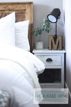 Check Out Our Farmhouse Bedroom Reveal. Easy Ways To Implement Farmhouse Style Into Your Bedroom For Cheap. Farmhouse Bedroom From The Rugged Home
