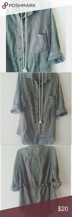 Button up dressy blouse Only wore once. Excellent condition Tops
