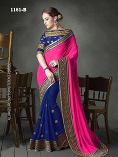 Blue and Pink Color Georgette Saree - 36e1aed9    #sarees #saree #look #looking #popular #offer #design #fashionable #look #looking #new #offers #design #fashionable #amazing #design #zinnga #zinngafashion #look looking #amazing