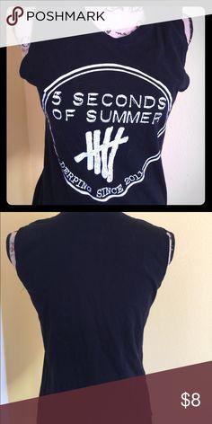 5 seconds of summer black tank tshirt. Soft black tank shirt that has 5 seconds of summer design. Tops Tank Tops
