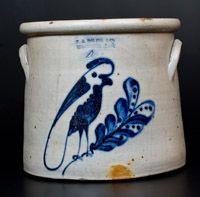 F. B. NORTON & CO. / WORCESTER, MASS. Stoneware Parrot Crock