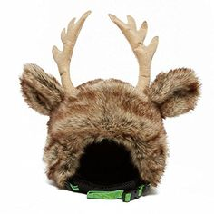 Reindeer Ski Helmet Cover With Antlers & Cute Ears headztong