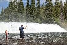 Enjoy Fishing and Hiking at Cave Falls on the Fall River in Yellowstone National Park - TRR Fly Fishing Blog