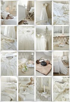 Bedroom Whitewashed Cottage chippy shabby chic French country rustic swedish decor idea. ***Pinned by oldattic ***.