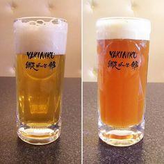 #網走ビール ホワイトエールと IPWIPW とは #IPA x #Weizen のことでホップがきいたヴァイツェン ビールですYAKINIKU 網走ビール館でいただきました #beer #craftbeer #abashiri #hokkaido #北海道