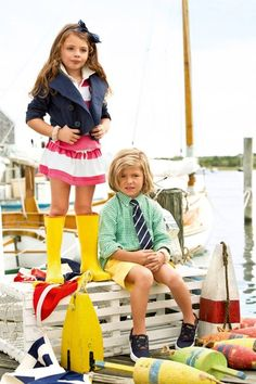 pull in color with nautical!! colorful nautical preppy