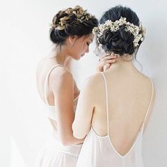 Olivia and Estelle getting ready for the Yule ball - Taken by Aileen