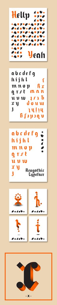 Neogothic, my first modular typeface on Typography Served