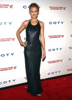 Carolyn Murphy wore Calvin Klein collection at the 6th annual DKMS Linked Against Blood Cancer gala in New York.