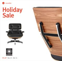 That Eames Lounge Chair you've always wanted?  Save 15% when you buy it now, during the @hermanmiller Holiday Sale    Herman Miller Sale 15% off + free standard shipping on everything storewide through Dec 14  Iconic design rarely comes this easy. Shop for award winning office chairs and timeless designs from Eames, Nelson, and Girard. Select products are in stock with expedited shipping available.