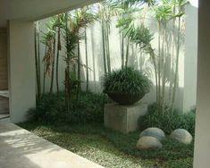 ":) ""Fresh Terrace Plant Design Creating a Cool Interior Condition : Modern Landscape Indoor Garden Jimbaran Bali Indonesia Residence"" Backyard Garden Design, Modern Backyard, Modern Landscaping, Backyard Landscaping, Landscaping Ideas, Backyard Decks, Landscaping Melbourne, Large Backyard, Small Gardens"