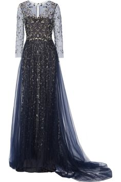 Marchesa|Embellished tulle gown|NET-A-PORTER.COM