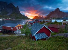 Always Wanderlust Daily Travel Photo - Red Fishing Houses at Reine