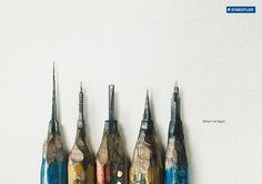 """The print campaign """"Architecture"""" for Staedtler by Leo Burnett Hong Kong is surely inspired by pencil artist Dalton Ghetti. """"Where it all begins. Clever Advertising, Print Advertising, Advertising Campaign, Contextual Advertising, Advertisement Examples, Banks Advertising, Ad Design, Print Design, Graphic Design"""