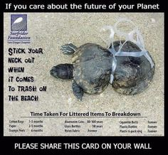 Surfrider Foundation - trash on the beach doesn't decompose. So sad. Our Planet, Save The Planet, Planet Earth, Beach Clean Up, Environmental Pollution, Environmental Issues, Environmental Education, We Are The World, Animal Rights
