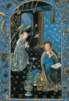 The Annunciation from the Black Hours