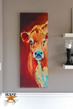 Awesome cow painting www.houseofhepworths.com