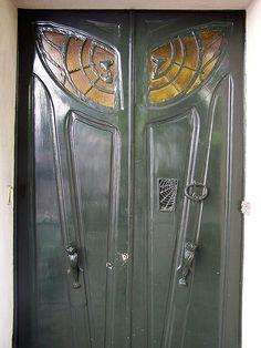 Scary Art Nouveau Door - Monmatre | Flickr - Photo Sharing!