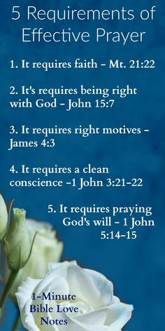 5 Requirements for Effective Prayer