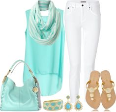 """""""turquoise  gold"""" by lgb321 ❤ liked on Polyvore"""