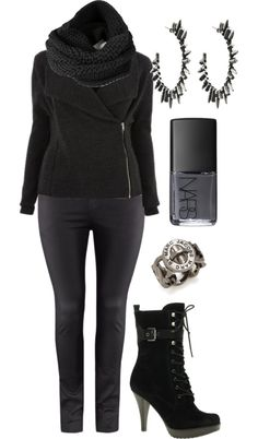 """""""All Black - Plus Size"""" by alexawebb ❤ liked on Polyvore"""