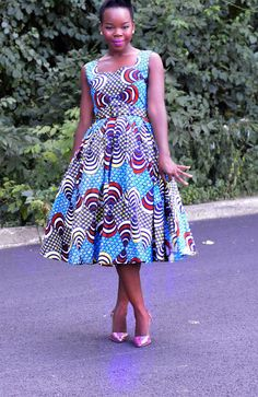 African print dress 50 s audrey hepburn retro style dresses