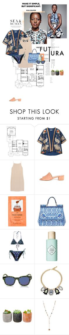 """""""I wanna see the rivers that you chase."""" by luxecouture ❤ liked on Polyvore featuring Behance, Prada, Munro American, Zara, T By Alexander Wang, Maryam Nassir Zadeh, H&M, Dolce&Gabbana, STELLA McCARTNEY and Benefit"""
