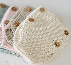 Knitting Pattern For Beginners Baby Drawers Pattern Learn To Knit Diaper Cover DIY Newborn Knickers Organic Baby Clothing