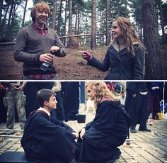 Heroine Granger is displays how she is fiercer than Harry.. Harry Potter Behind the Scenes