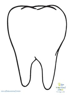 tooth template printable | Tooth Pattern | Dental health ...