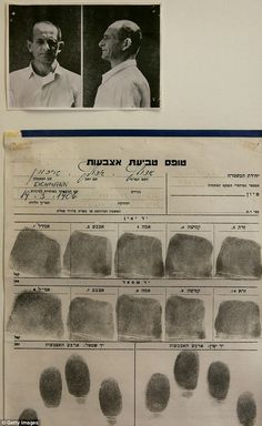 Arrested: After Eichmann was arrested he still refused to acknowledge that he had organised the transportation logistics for the ghettoisation and deportation of over 437,00 Jews to concentration and extermination camps in Nazi German occupied Eastern Europe as part of the Third Reich's 'Final Solution'