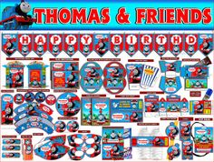 Thomas And Friends Printable Party Package by PrintablePartyFun