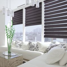 3 Fortunate Clever Hacks: Outdoor Blinds Window blinds for windows color.Blinds Window No Sew rolling blinds for windows.Blinds For Windows Budget. Patio Blinds, Diy Blinds, Outdoor Blinds, Bamboo Blinds, Fabric Blinds, Curtains With Blinds, Blinds Ideas, Window Blinds, Bay Window
