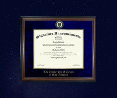 Signature Announcements New College of Florida Undergraduate 16 x 16 Sculpted Foil Seal Name /& Tassel Graduation Diploma Frame Matte Mahogany