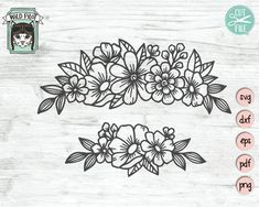 Flower Svg, Flower Frame, Embroidery Patterns, Hand Embroidery, Camera Clip Art, Svg Cuts, Textured Background, Svg File, Coloring Pages