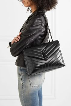 Sac Yves Saint Laurent, Saint Laurent Jeans, Saint Laurent Handbags, Sac A Main Ysl, Look Fashion, Fashion Bags, Ysl Crossbody Bag, Quilted Leather, Leather Bags