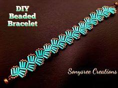 bead weaving patterns for bracelets Making Bracelets With Beads, Seed Bead Bracelets, Jewelry Making, Gold Bracelets, Colorful Bracelets, Hand Bracelet, Beads Making, Rosary Bracelet, Diy Accessories